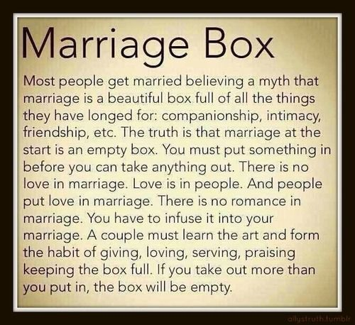 Box Of Love Poem : The marriage box poem most people get married believing