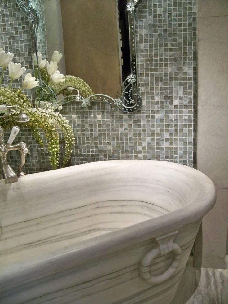 Photo On  great ideas and pictures of iridescent bathroom tiles