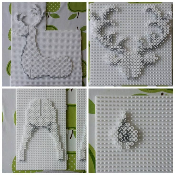 DIY 3D Christmas Reindeer Hama Beads
