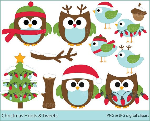 Clip Art Christmas Owl Clip Art 1000 images about owls on pinterest clipart christmas digital clip art birds woodland hoots and tweets 5