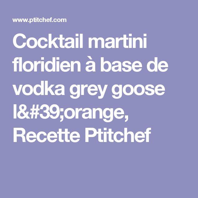 Cocktail martini floridien à base de vodka grey goose l'orange, Recette Ptitchef