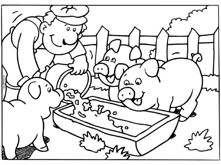 kleurplaat varken boerderij kleurplaten en boerderij logo