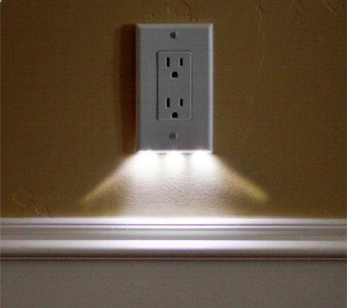 Outlet cover with LED nightlight