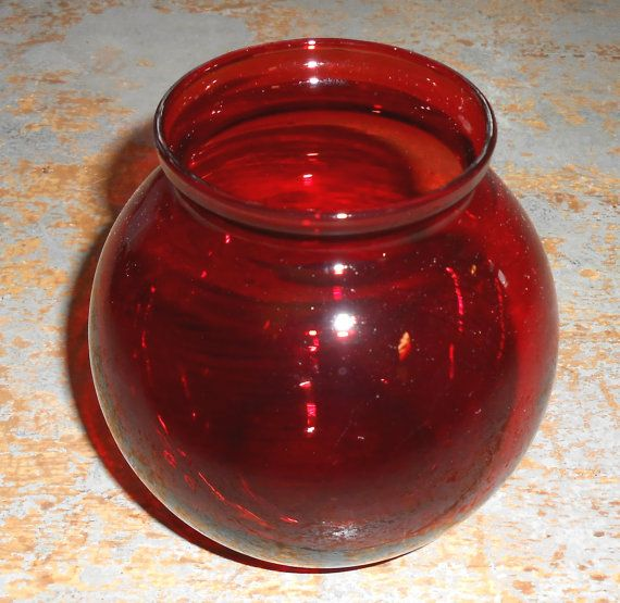 vintage vase ruby red red glass red vase glass vase round vase ivy ball vase vintage. Black Bedroom Furniture Sets. Home Design Ideas