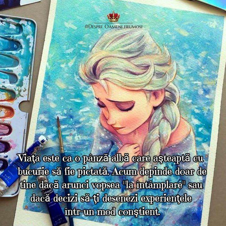 """""""Viaţa este ca o pânză albă care aşteaptă cu bucurie să fie pictată.   Acum depinde doar de tine dacă arunci vopsea """"la întâmplare"""" sau dacă decizi să-ţi desenezi experienţele într-un mod conştient."""" - Cătălin Manea  Zile pline de frumos! _____________ The most beautiful posts / Cele mai frumoase postări   Despre Oameni frumosi  - pagina ta de frumos   http://ift.tt/2xyywKb  - arhiva cu peste 400 de postări... una mai frumoasă ca alta!"""