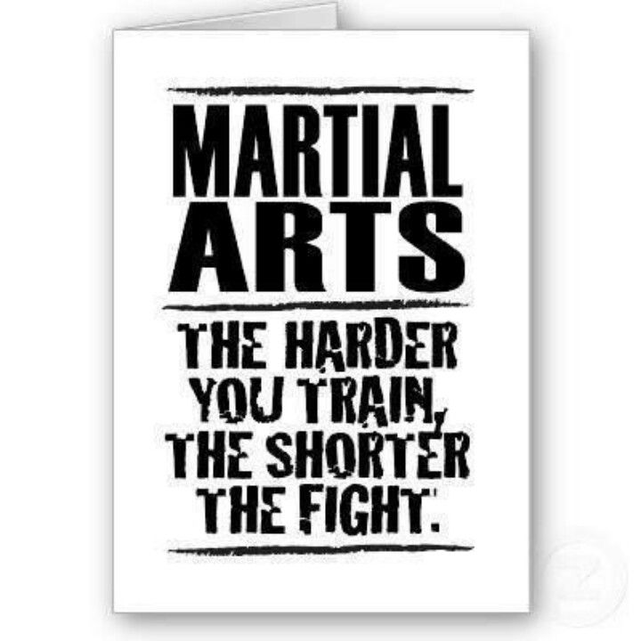 The harder you train, the shorter the fight.