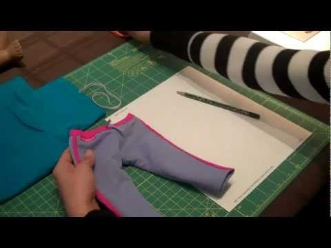 How to Make Pants for American Girl Doll. This tutorial is amazing and so simple!!! I will have to do this and make a pair of shorts