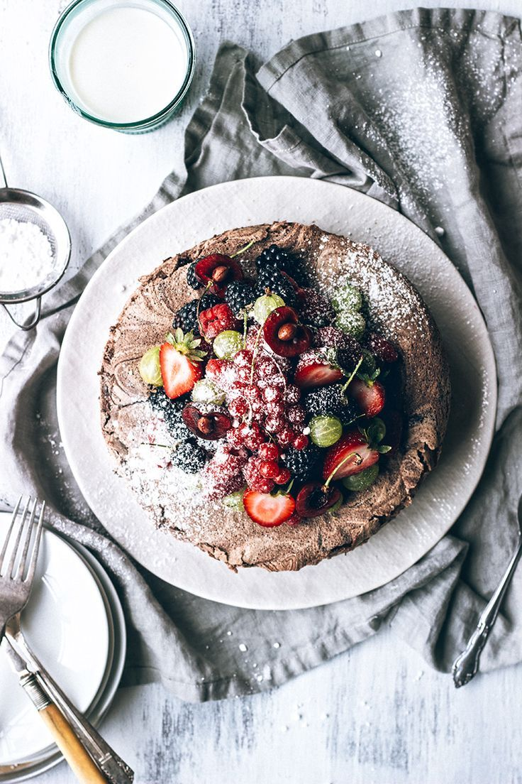 Chocolate Meringue Cake with Fresh Berries / Artful Desperado