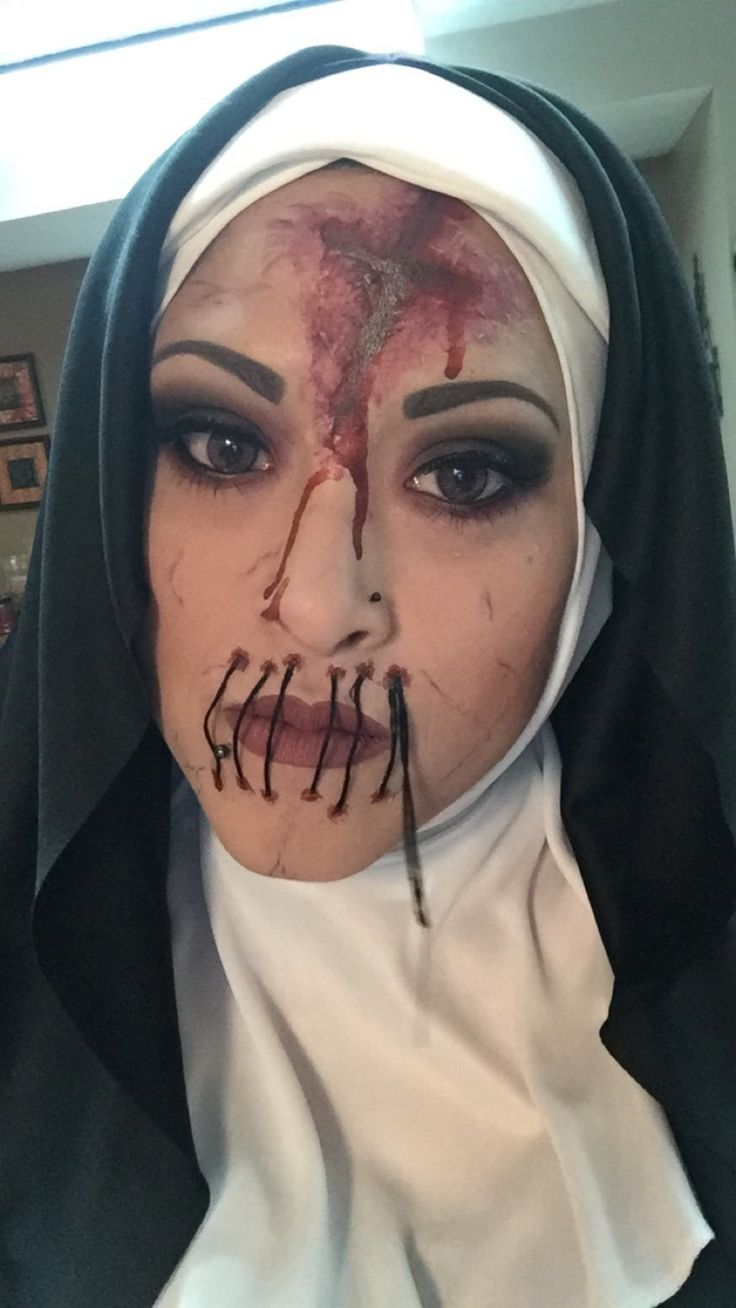 Scary nun Halloween costume