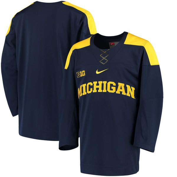 Michigan Wolverines Nike Replica Hockey Jersey - Navy - $124.99