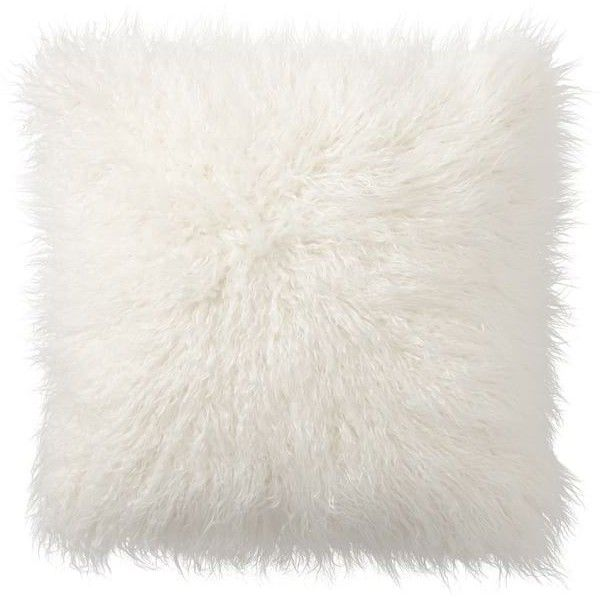Pottery Barn Mongolian Faux Fur Pillow Cover (405 SEK