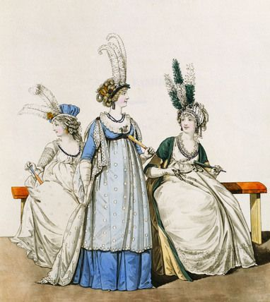 Gallery of Fashion, 1794 I just love these hat styles of from the early 1790s.  So vertical and crazy!