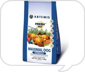 The Maximal product from Artemis Dog Food was formulated for dogs needing to eliminate grains from their diet.      It's a high protein, low carb, GRAIN FREE diet. A single source protein (chicken) eliminates possible allergies caused by multiple protein sources.