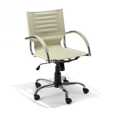 € 59,50 mod. 3032 #sedia da #ufficio direzionale, #elegante, base cromata a 5 razze, ruote piroettanti, alzata a gas certificata, seduta ergonomica, rivestimento in ecopelle, in #offerta #prezzo #outlet #sconto 60% su www.chairsoutlet.com
