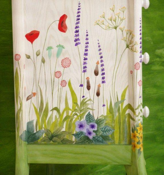 Las 25 mejores ideas sobre muebles de jard n pintados en - Muebles pintados en blanco ...