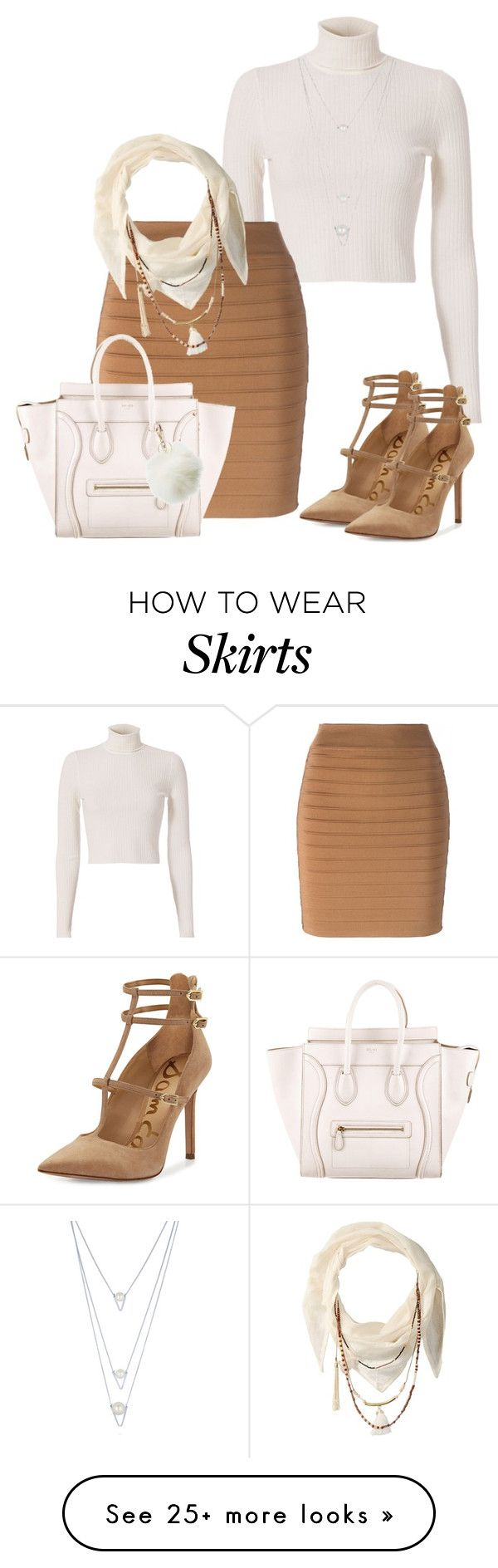"""""""Short Skirt for Fall #3"""" by ashleydawn2 on Polyvore featuring A.L.C., Balmain, Sam Edelman, CÉLINE, BCBGeneration, Charlotte Russe, BERRICLE, Fall and shortskirt"""