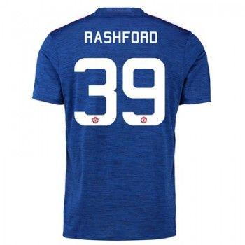 Manchester United 16-17 Marcus Rashford 39 Bortatröja Kortärmad #Billiga  #fotbollströjor