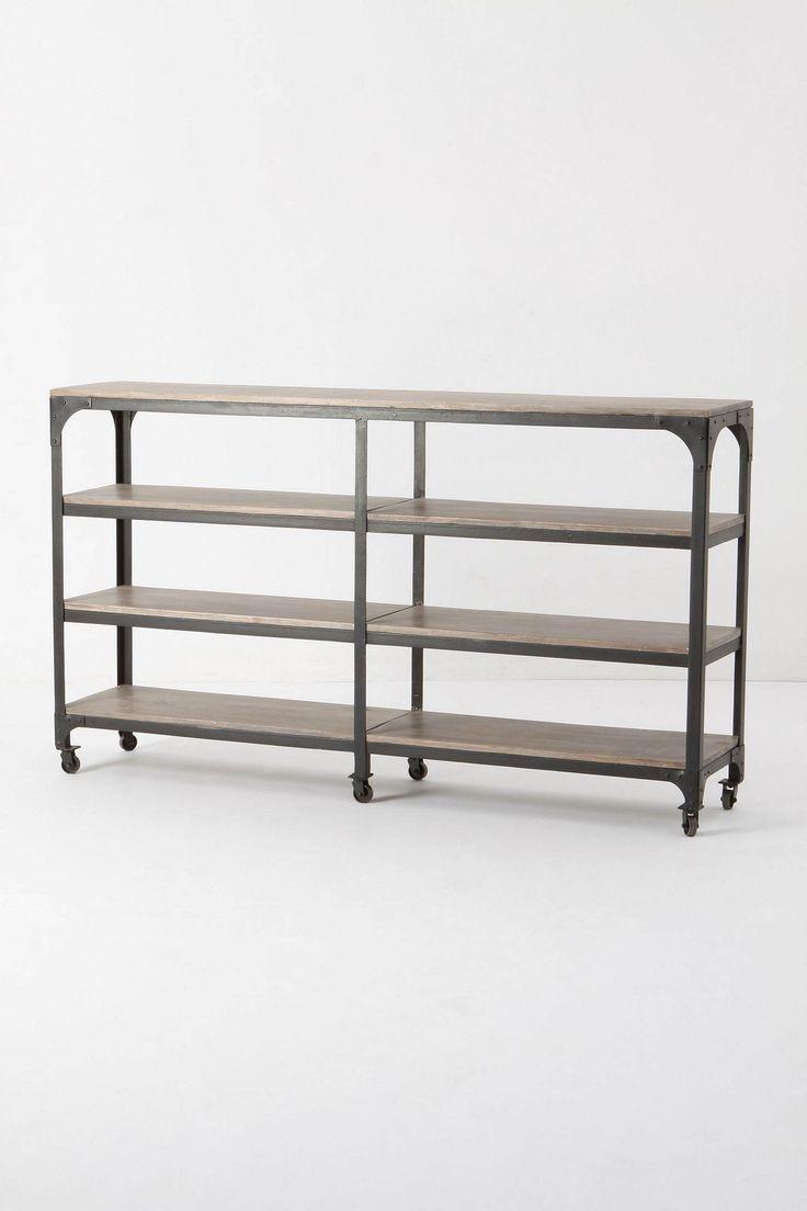 mesa de arrime de hierro y madera