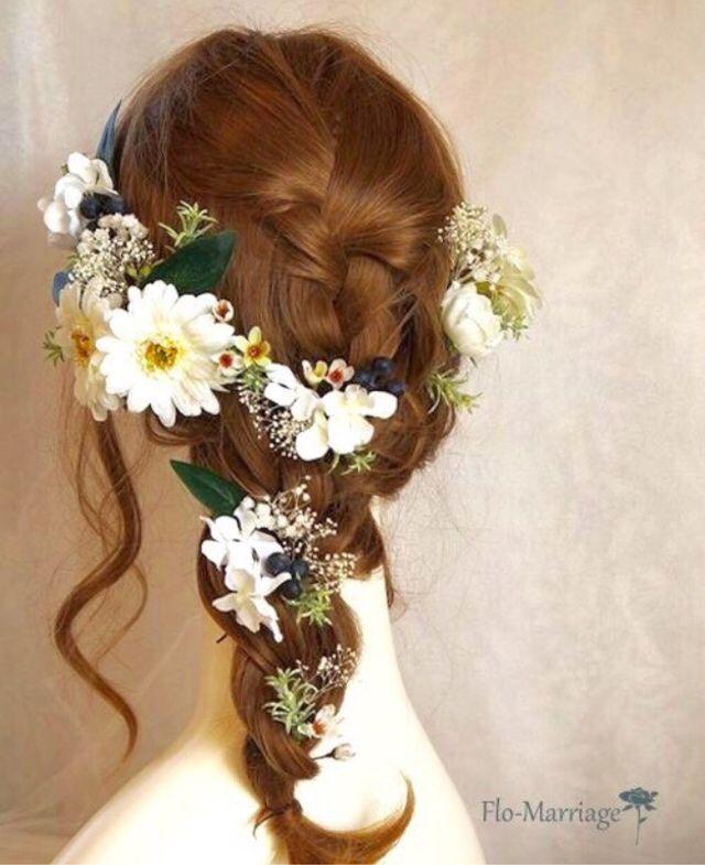 小花が可愛い白いガーベラのヘッドドレス♡ | ハンドメイドマーケット minne