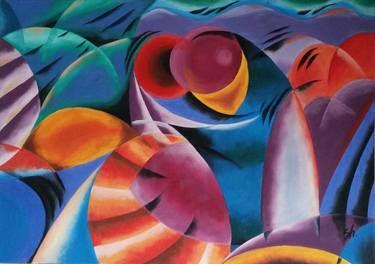 """Saatchi+Art+Artist+Sanna+Huusko;+Painting,+""""Water+sports/Vesiurheilua""""+#art"""