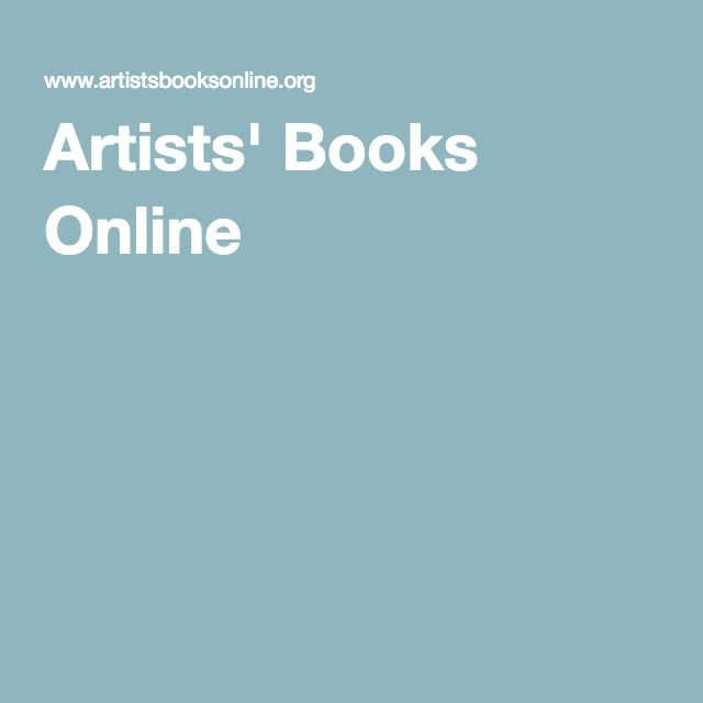 Artists' Books Online