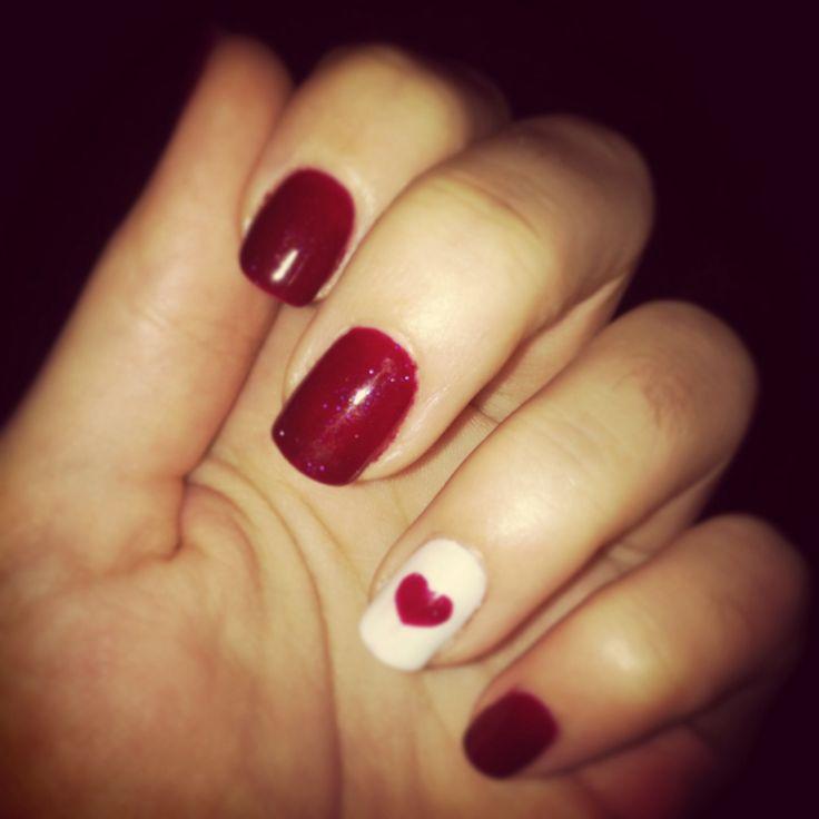 """Valentine day nails """"E.L. Nails"""""""