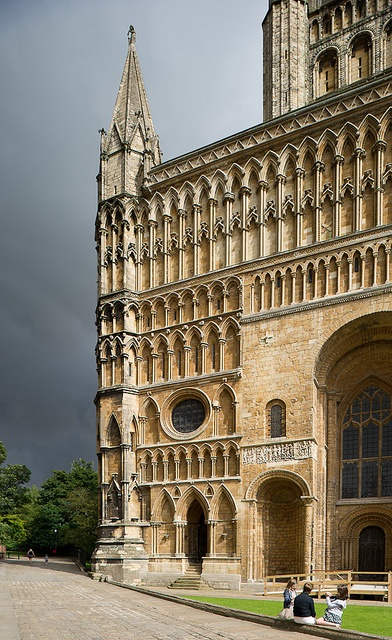An interesting angle of Lincoln Cathedral with some ominous clouds in the…