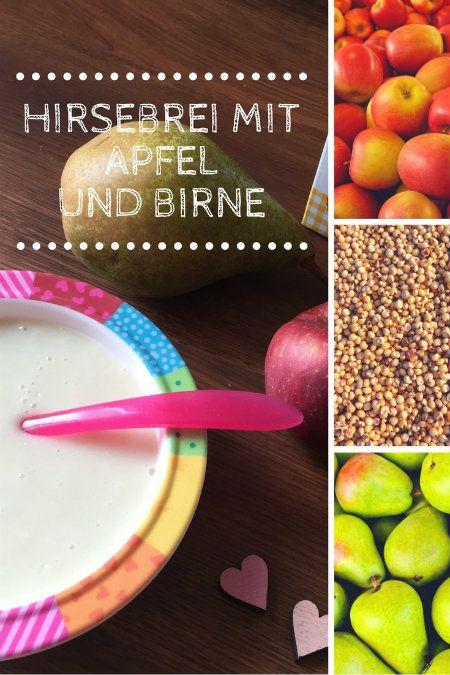 Hirse-Babybrei mit Apfel und Birne