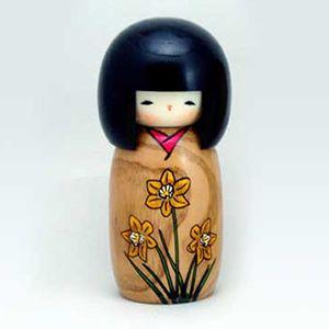 BESTJAPAN | Japanese Kokeshi Doll - Hanamonogatari Suisen #kokeshi #japanese #usaburo #japan