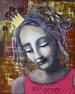 Heute bin ich Prinzessin  - Kunst von Piarom  - inspiriert von Da Vinci
