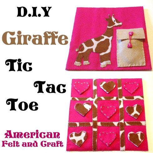 DIY #Felt Giraffe Tic Tac Toe Tutorial