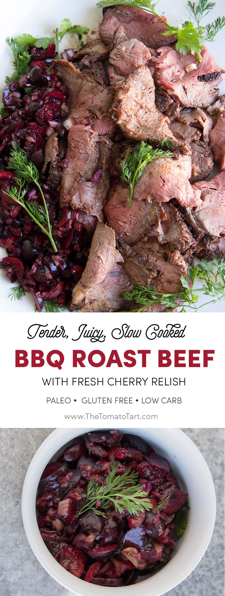 The World's Best Roast Beef Recipe-- Make it On the Grill! Don't forget this gorgeous cherry relish
