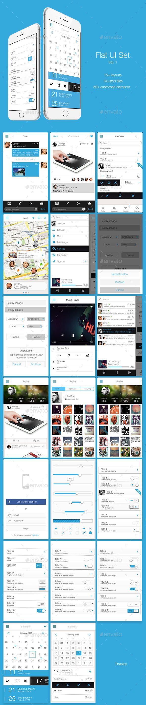 Flat UI Set Vol. 1 - User Interfaces Web Elements