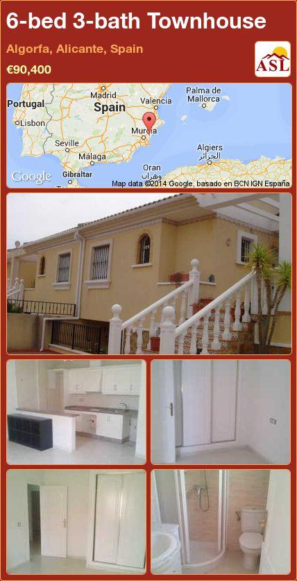 6-bed 3-bath Townhouse in Algorfa, Alicante, Spain ►€90,400 #PropertyForSaleInSpain