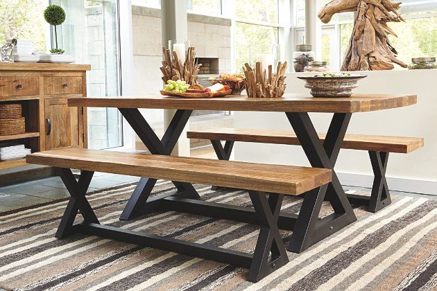 Wesling Dining Room Table, Wesling Dining Room Bench