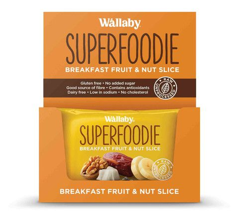Wallaby - Gluten Free - All Day Fruit and Nut Slices - Banana Coconut Walnut Chai