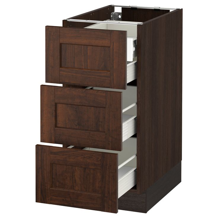 IKEA - SEKTION wood effect brown Base cabinet w/3 fronts & 4 drawers