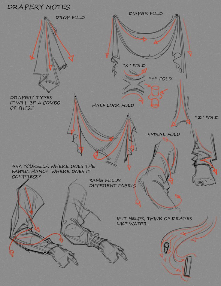 Some Notes on Drapery by ~FUNKYMONKEY1945 on deviantART ✤ || CHARACTER DESIGN REFERENCES | キャラクターデザイン • Find more at https://www.facebook.com/CharacterDesignReferences if you're looking for: #lineart #art #character #design #illustration #animation #drawing #archive #reference #traditional #sketch #pose #settei #gestures #how #to #tutorial #comics #conceptart #modelsheet #cartoon #wrinkles #folding #clothing #costumes #ruffles #dress #clothes #fabric #folds #draping || ✤