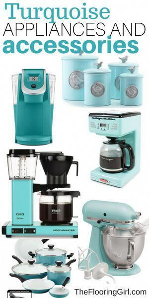Colorful Kitchen Supplies: Turquoise Appliances, Coffee Makers And Kitchen
