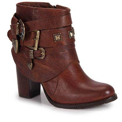 Ankle Boots Feminina Brenda Lee - Camel