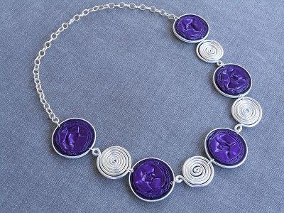 nespressart bijoux: girocollo viola