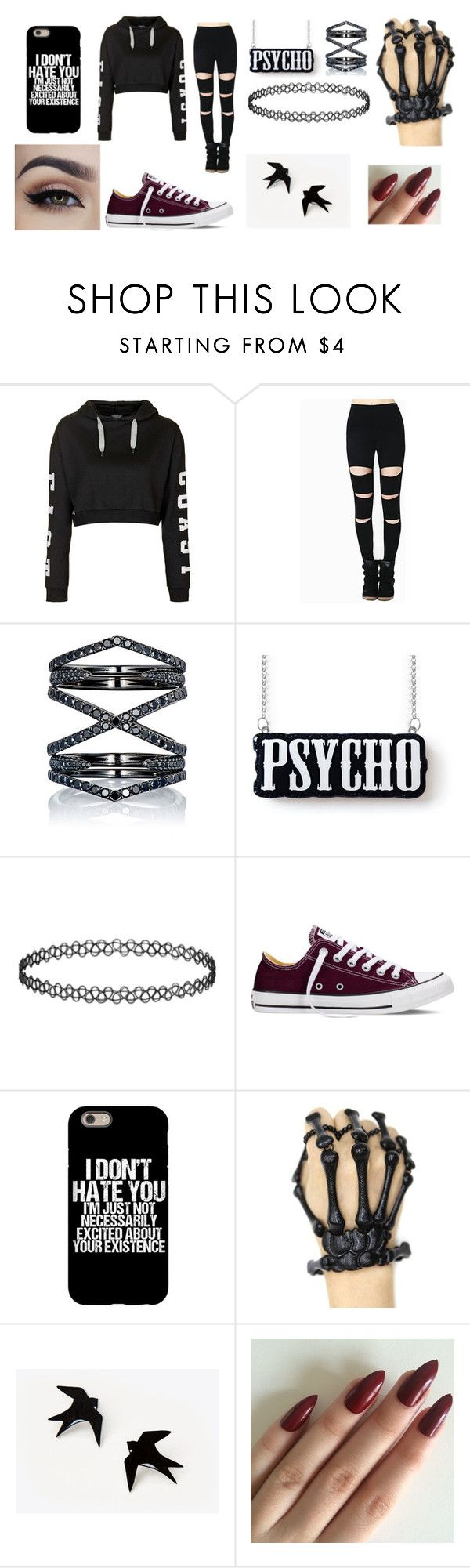 """""""Untitled #66"""" by zahlia-tibbs on Polyvore featuring Topshop, Eva Fehren and Converse"""