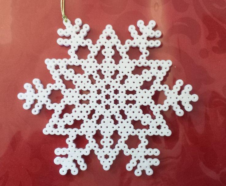 Perler Bead Snowflake by Joanne Schiavoni