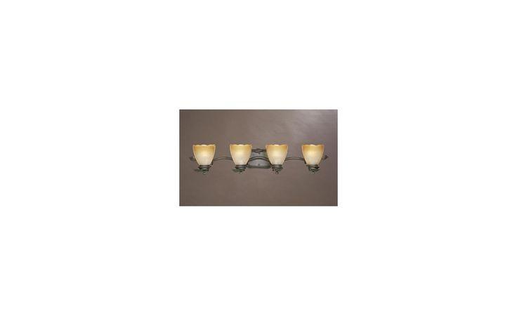 """Designers Fountain 95604 Four Light Up Lighting 34"""" Wide Bathroom Fixture from t Old Bronze Indoor Lighting Bathroom Fixtures Vanity Light"""
