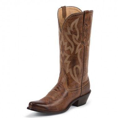 Nocona Women's British Tan Deertanned Cow Western Boots [NL1604]