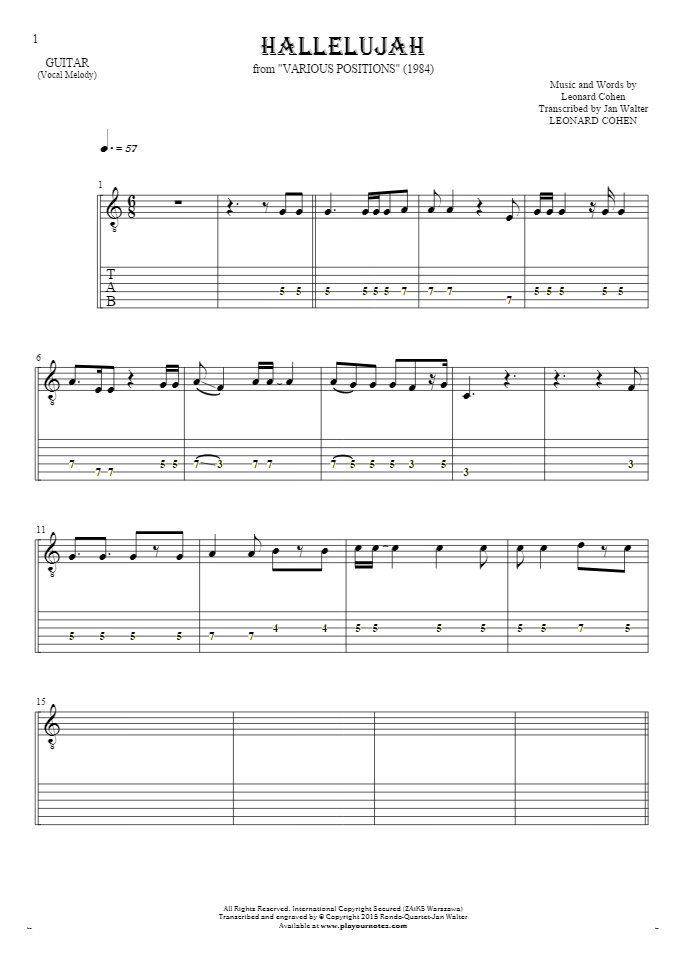 Relativ The 25+ best Hallelujah sheet music ideas on Pinterest | Song play  YC05