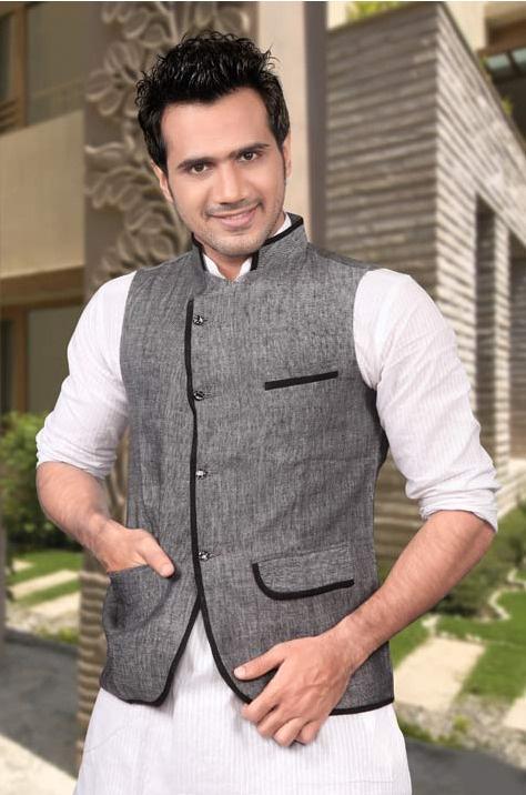 #Grey Linen Nehru #Jacket @ $65.75
