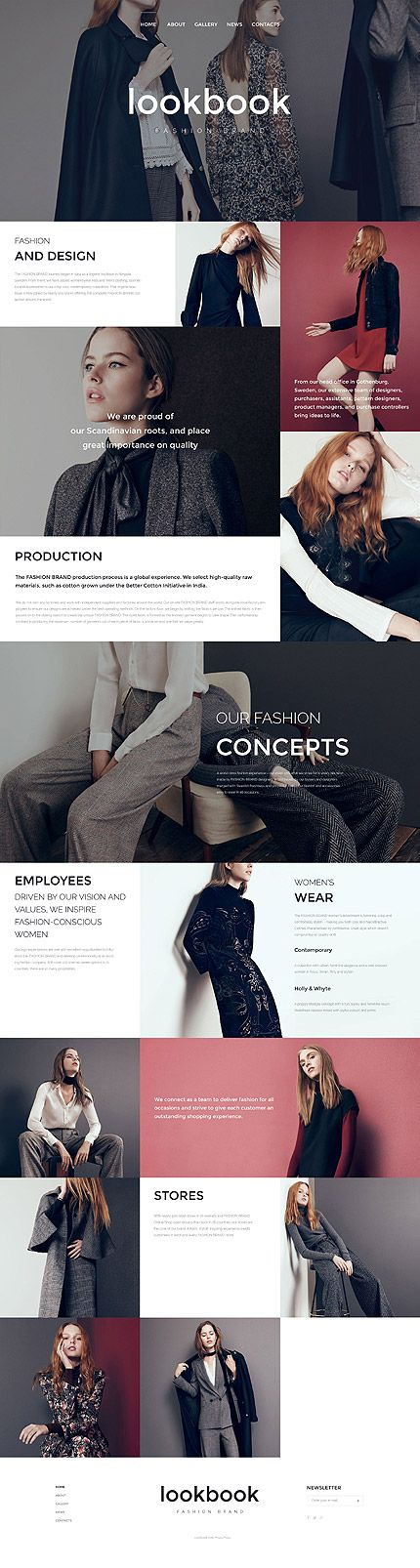 Look Book Fashion Brand #website #template. #themes #business #responsive #websitethemes