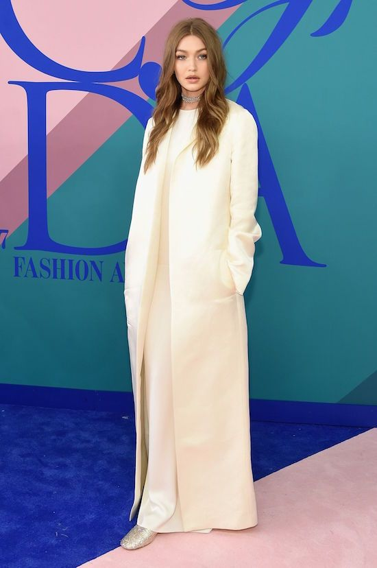 Gigi Hadidi in The Row on the red carpet of The CFDA Awards  2017.