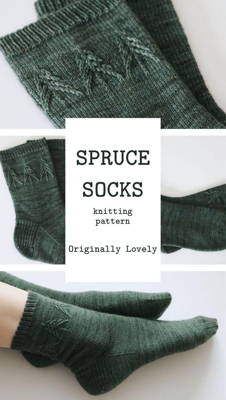 Padrão de tricô de meias Spruce